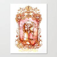 Much Ado About Nothing - Masquerade Ball Dancers - Shakespeare Illustration Art Canvas Print