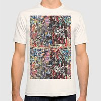 Love wall background Mens Fitted Tee Natural SMALL