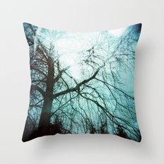 Winter Tree Holga Throw Pillow
