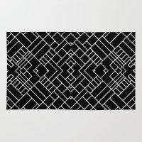 PS Grid 45 Black Rug