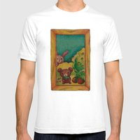 Forest Wool Mens Fitted Tee White SMALL