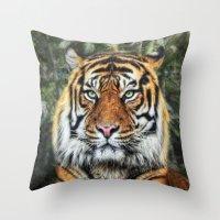 panthera tigris II Throw Pillow