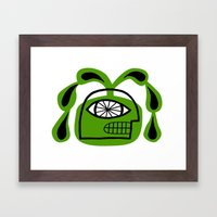 Mortals on a superhuman scale Framed Art Print