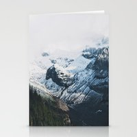 Mount Rainier Winter Valley Stationery Cards