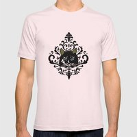 cat damask Mens Fitted Tee Light Pink SMALL