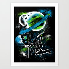 space Painting Art Print