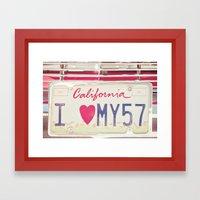 Hello Love Framed Art Print