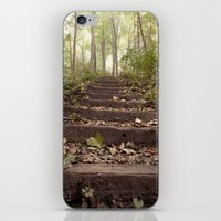 stairs in the woods iPhone & iPod Skin