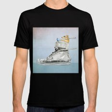 Dog Driving a Shoe SMALL Mens Fitted Tee Black