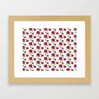 Ladybird pattern Framed Art Print