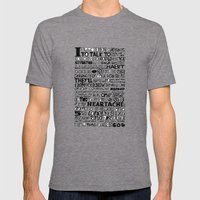 Word Mens Fitted Tee Tri-Grey SMALL