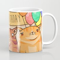 Birthday Cats! Mug