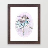 Snow Ballerina  Framed Art Print