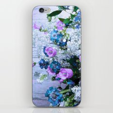 Flowers, Pink, Lilac, Teal iPhone & iPod Skin