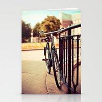 Old vintage style bike Stationery Cards