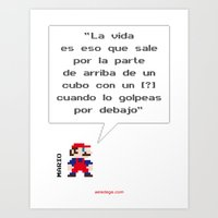Mario ¿Qué Es La Vida? Art Print