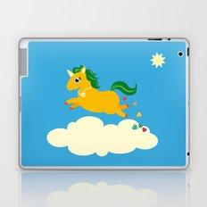 The golden unicorn of glitter poo Laptop & iPad Skin