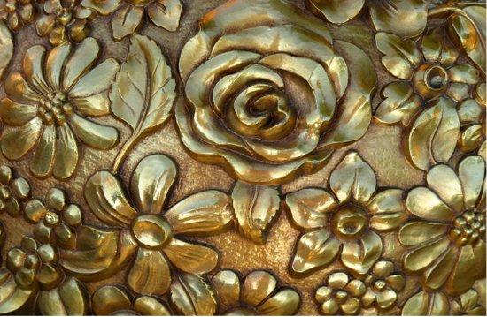 Golden Rose Pattern Art Art Print