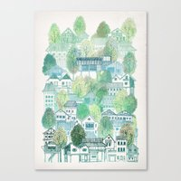 Cambodian Village Canvas Print