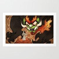 Samurai Jack and Aku Art Print