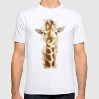 giraffe Mens Fitted Tee Ash Grey SMALL