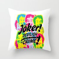 The Joker - Clown Prince of Crime Throw Pillow