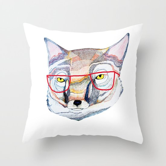 Mr Fox Throw Pillow