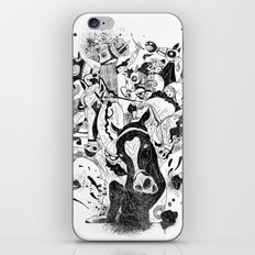 The Great Horse Race! B&W Edition iPhone & iPod Skin