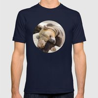 Sweet dreams, Mr Bear Mens Fitted Tee Navy SMALL