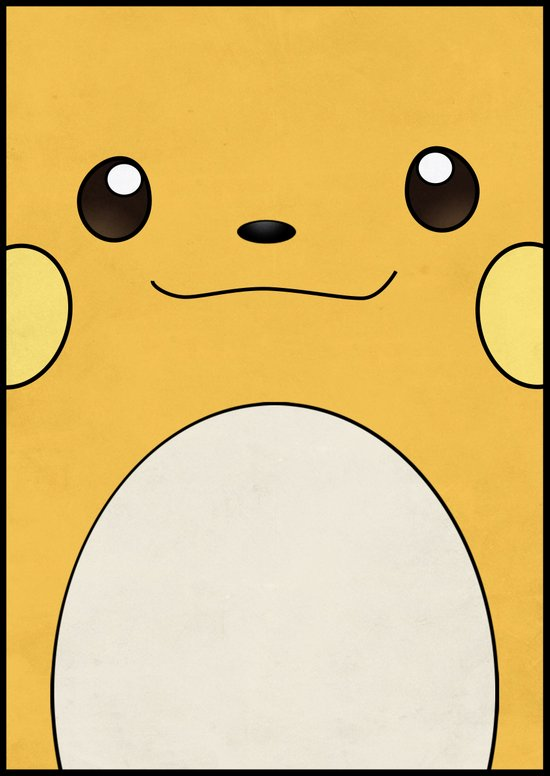 Raichu - Pikachu's evolution. Pokemon Poster Art Print