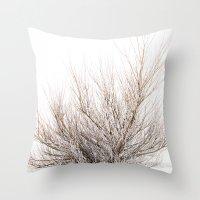 Magic Winter Tree Throw Pillow