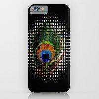 BLACK PEEKING PEACOCK iPhone 6 Slim Case