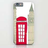 iPhone & iPod Case featuring London red telephone box (cut out - red) by bluebutton studio
