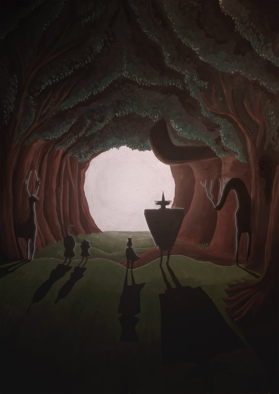 Tunnel in the end of the light. Art Print
