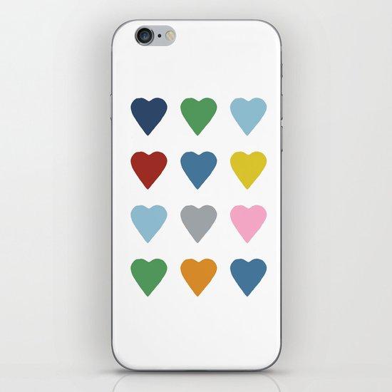 16 Hearts iPhone & iPod Skin
