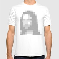 Mosaic Mona Mens Fitted Tee White SMALL