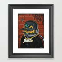 Death Bling. Framed Art Print