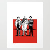 Three dudes Art Print