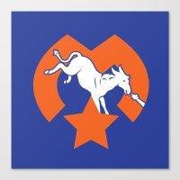 Denver Donkeys   Canvas Print