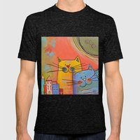 City Cats Mens Fitted Tee Tri-Black SMALL