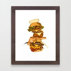 ULTIMATE BURGER Framed Art Print