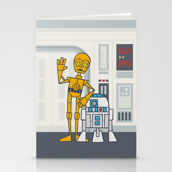 EP4 : C3PO & R2D2 Stationery Card