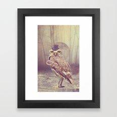 Fairy tale : owl Framed Art Print