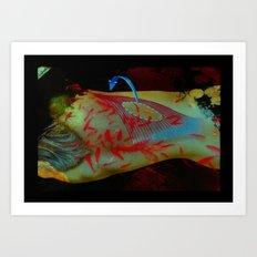 Swimming Body Art Print