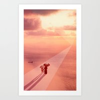 Sunset Waters Art Print