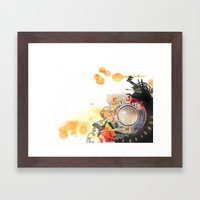 retro telephone Framed Art Print