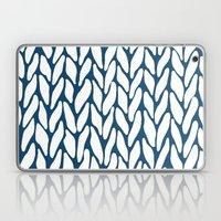 Hand Knitted Navy Laptop & iPad Skin