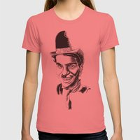 The Comedians Womens Fitted Tee Pomegranate SMALL
