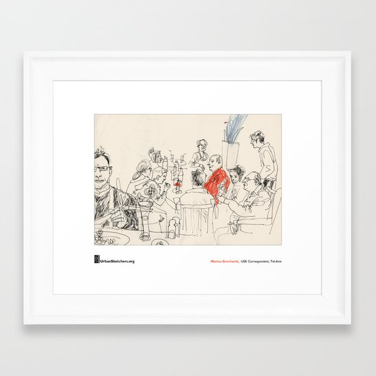 "Marina Grechanik, ""Meal"" Framed Art Print"