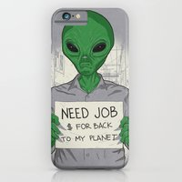 iPhone & iPod Case featuring Jobless On Earth by samalope
